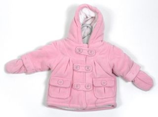 Baby Girls Coat Baby Jacket Pink Duffle EX Store Newborn 0 3 6 9 12 New