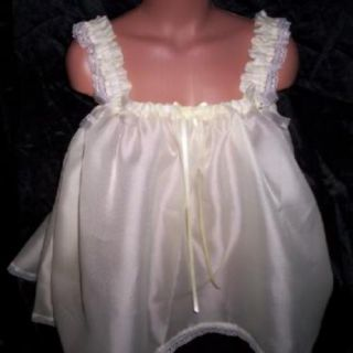 Custom Made Adult Sissy Pale Yellow Night Gown Babydoll Womens Mens TV CD Sexy