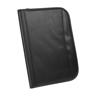 Zippered Padfolio Organizer Documents Holder with Legal Notepad and Pen Holder