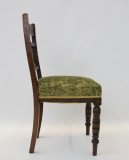 Antique Victorian Chair Dining Walnut 2 Available