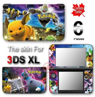 Pokemon New Vinyl Skin Sticker Decal Cover for Nintendo 3DS XL