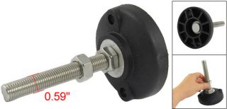 145mm Height Adjustable Screw on Chairs Threaded Glide