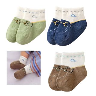 3 Pairs New Infant Toddler Baby Boy Shoes Socks 12 24 Months S23