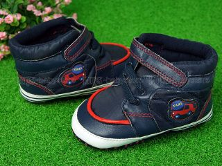 New Toddler Baby Boy High Top Deep Blue Shoes Size 4 A692