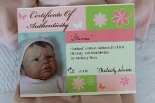 Gianna Reborn Kit by Melody Hess Artist Signed Body Sold Out Limited Edition