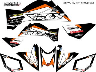 525XC 525sx 525 XC SX KTM Graphics Kit ATV Quad 4 Wheeler Stickers Decals Deco