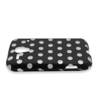 Black Polka Dot Case for Kyocera Hydro Edge C5215 Cell Phone Hard Skin Cover