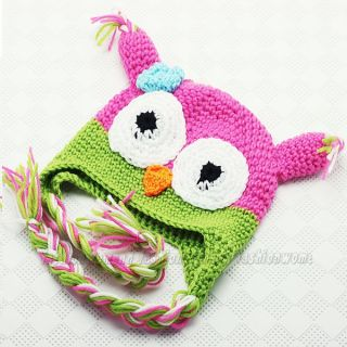 Super Cute and Warm Baby Knit Hat Cap Owls Pattern 6 18 Months Babies Hats Caps