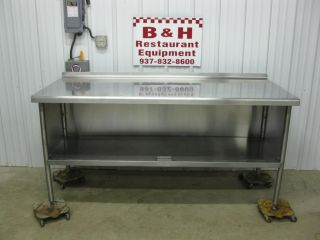 "72"" x 30"" Stainless Steel Heavy Duty Cabinet Work Prep Table 6' x 2' 6"""