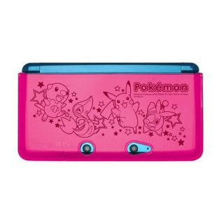 Pokemon Black White 3DS TPU Silicone Cover Protector Skin Case BW A Pink Hori