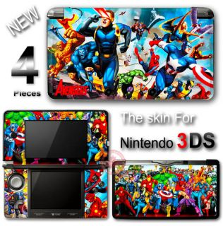 Captain America Spider Man Iron Man Avengers Skin Sticker Cover for Nintendo 3DS