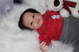 Sweet Pea Babie's Nursery Reborn Doll Cute Little Boy Grant by Michelle Fagan