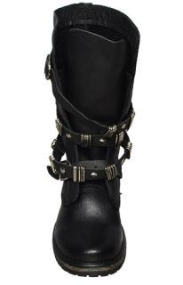 Steve Madden Womens Mid Calf Boots Bekket Black Leather Sz 8 M