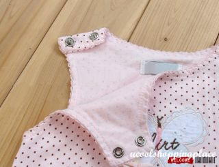 2pcs Infant Baby Girl Hat Romper Jumpsuit Bodysuit Outfit Clothing Pink 0 24M