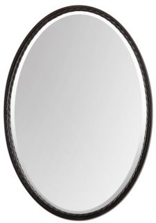 Oil Rubbed Bronze Oval Wall Mirror Vanity Bathroom Mantel Large 32""