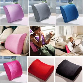 Home Office Car Seat Chair Memory Foam Lumbar Back Support Relief Cushion Pillow