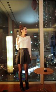 New Womens European Fashion Faux Leather Sexy Skirt 2 Colors B528