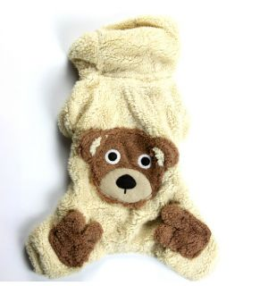 Autumn Winter Cute Bear Dog Ski Cotton Sweater Dog Clothing Warm Jacket Clothes