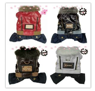 Autumn Winter Four Feet Punk Dog Pet Jacket Sweater Coat Dog Clothing Clothes