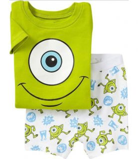 Baby Boys Kids Top Pants Shorts Sleepwear Pajamas Outfit Sets Suits Green Summer