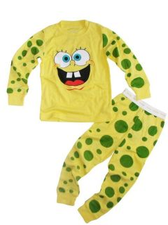 "Girls Baby Clothes Kids Boys' Sleepwear""Spongebob Squarepants""Pajamas Suit 2 7T"