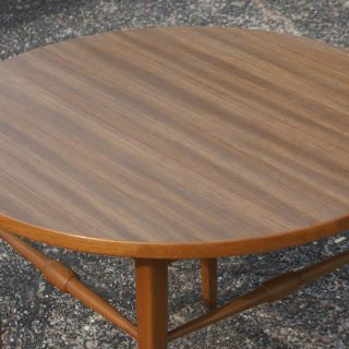 "27"" Vintage Mid Century Round Coffee Table"