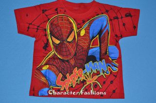 Spiderman Short Sleeve Shirt Size 2T 3T 4T 5T Boys Toddler Tee Marvel