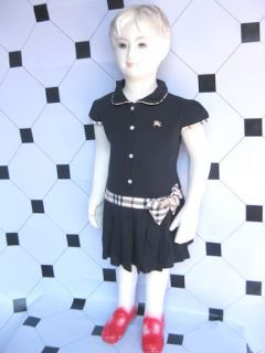 Baby Girl Checkered Polo Dress Designer Inspired Clothing Newborn Bow 3 6 12 3 4
