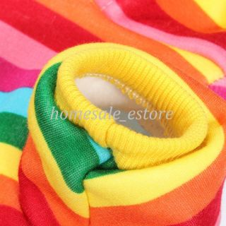 Pet Dog Warm Clothes Puppy Strawberry Rainbow Hoodie Apparel Sweater Jacket Coat