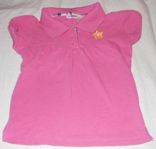 Kidzone Girls Set of 2 Pink Cotton Star Flower Button Up Tops Shirts Size 3T