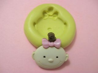 Newborn Baby Boy Girl Flexible Silicone Polymer Clay Gumpaste Fondant Push Mold