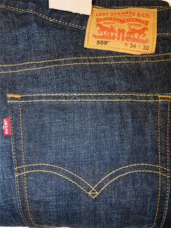 New Levi's Mens 559 Relaxed Straight Leg Jeans 30 38x30 34 Different Washes