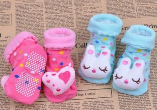 Cute Newborn Baby Girl Unisex Anti Slip Warm Socks Animal Shoes Boots 0 6 Months