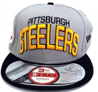 NFL Men's Pittsburgh Steelers NFL Reverse Arch Snap Back Hat Cap 9Fifty M L