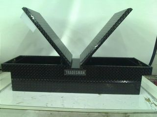 "Tradesman TALG581BK 70"" Gull Wing Black Aluminum Cross Bed Tool Box"