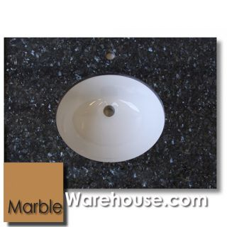 Blue Pearl Polished Granite Bathroom Vanity Top with Quality Porcelain Bowl