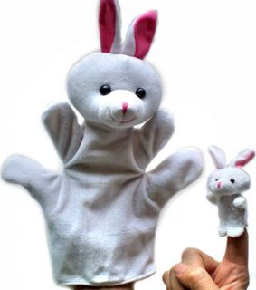 2pcs Soft Animal Hand Finger Puppet Baby Infant Kid Toy Parent Child Plush Toys