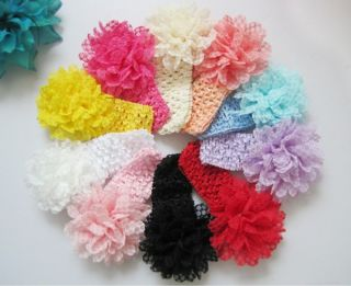 10pcs Flower Lace Kids Baby Girl Infant Headband Hair Band Headwear Accessories