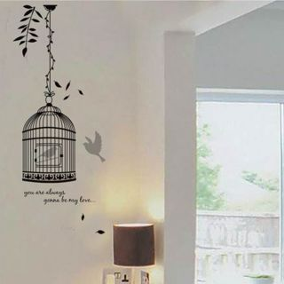 Bird in Cage Wall Sticker Decal