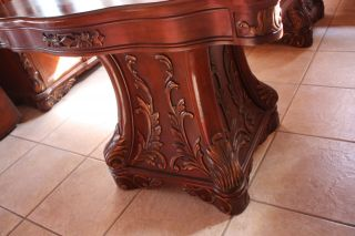 Gorgeous Victorian Hand Carved Lighted Walnut Dining Room Table 2 Leaf Hutch