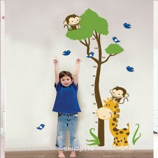 Giraffe Growth Chart Wall Sticker Decal JM7132
