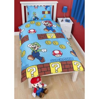 Nintendo Super Mario Bros 'Brothers' Duvet Cover 100 Official Rotary