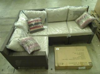 Hampton Bay Beverly 5 Piece Patio Sectional Seating Set