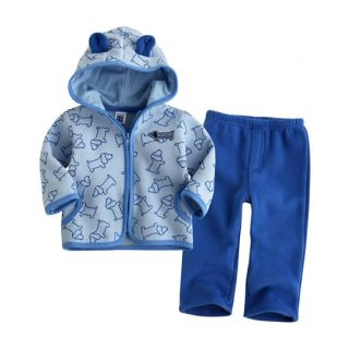 2pcs Baby Boys Girls Toddler Infant Warm Coat Top Pants Trousers Clothes Outfit