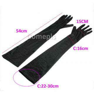 Pair Women Long Elbow Finger Gloves Mittens F Party Wedding Bridal Evening Dress
