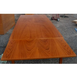 9ft Vintage Vejle Danish Expandable Teak Dining Table