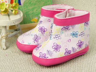 New Toddler Baby Girl Light Purple Boots Shoes Size 3 A810