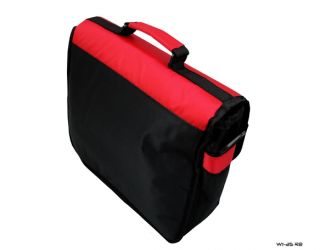New TGC Red Black Nintendo Wii U Messenger Style Console in Car Carry Case Bag
