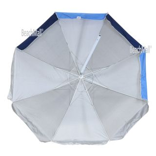 8 ft Heavy Duty Wind Resistant Fiberglass Ribs Beach Umbrellas UPF 100