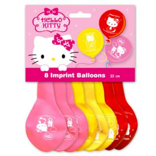 Authentic Sanrio Hello Kitty Birthday Party Supplies Kids Child Cute 8x Balloon